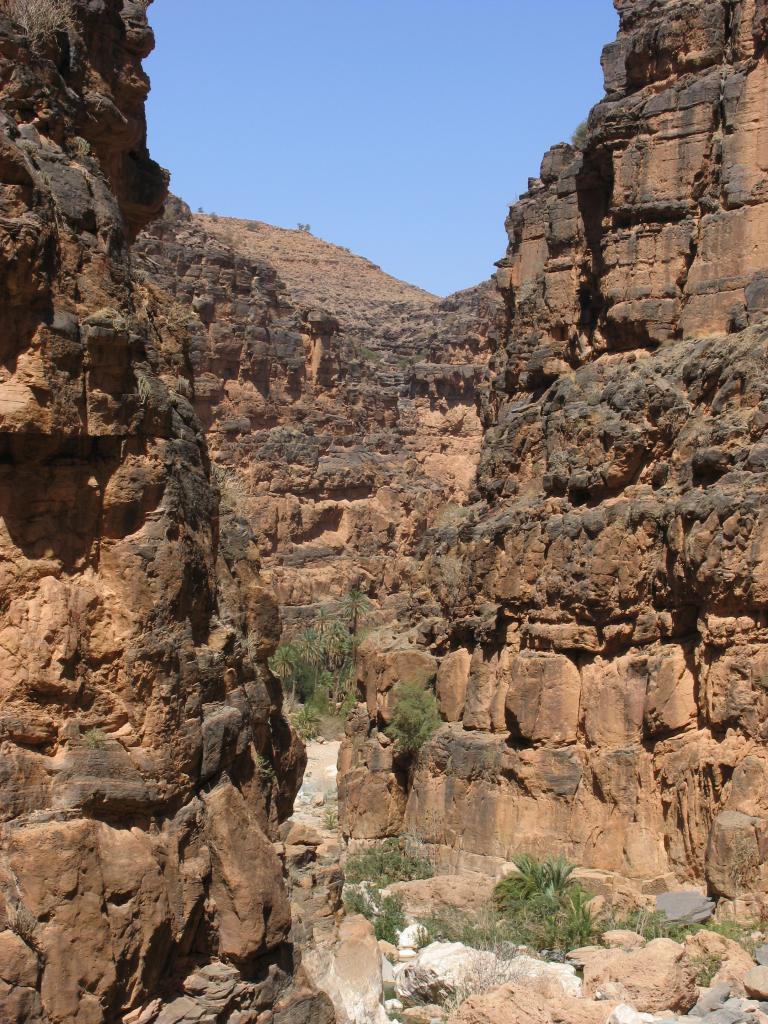 Amtoudi, les Oueds et les gorges