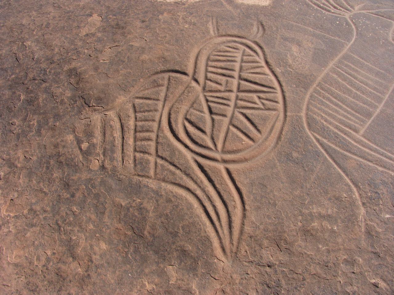 Gravures rupestres piste Ich Figuig